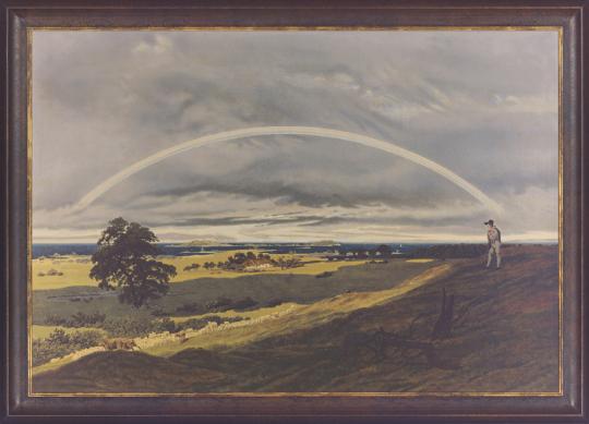 Landschaft mit Regenbogen. Caspar David Friedrich (1774-1840).