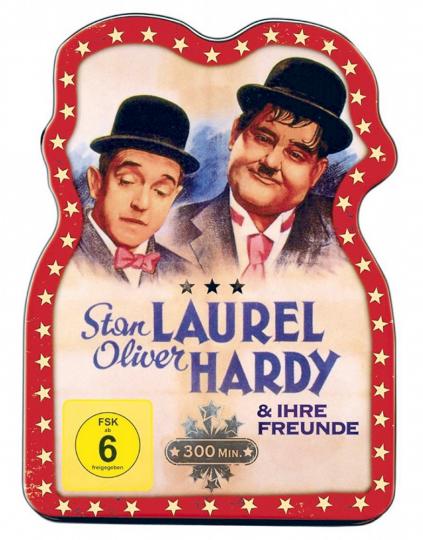 Laurel & Hardy und ihre Freunde. DVD in Blechdose.