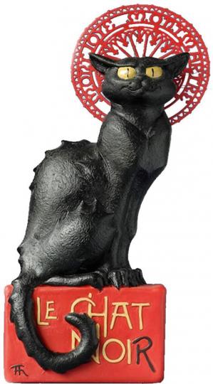 Skulptur »Le Chat Noir«.