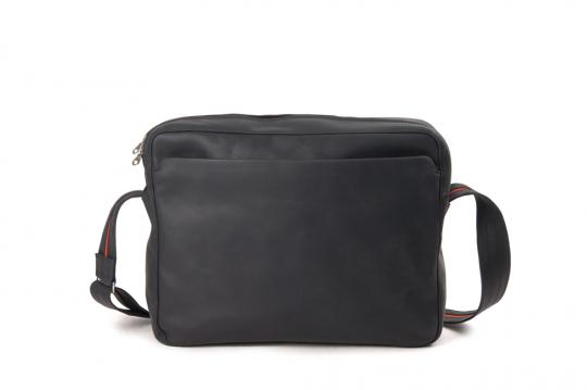 Leder-Handtasche »Dothebag«, schwarz.