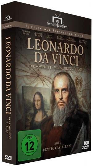 Leonardo da Vinci (Komplette Miniserie). 3 DVDs.
