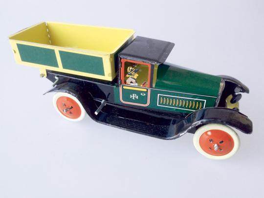 Blechspielzeug LKW mit Pritsche.