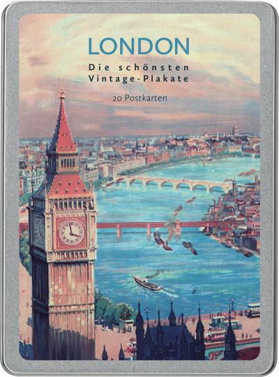 London. Die schönsten Vintage-Plakate. Postkarten-Set.