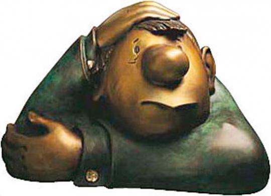 Loriot: Skulptur »Der kleine Denker«