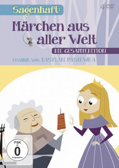 Märchen aus aller Welt - Erzählt von Bastian Pastewka: Gesamtedition 4 DVDs