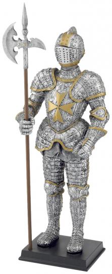 Malteser Ritter mit Hellebarde