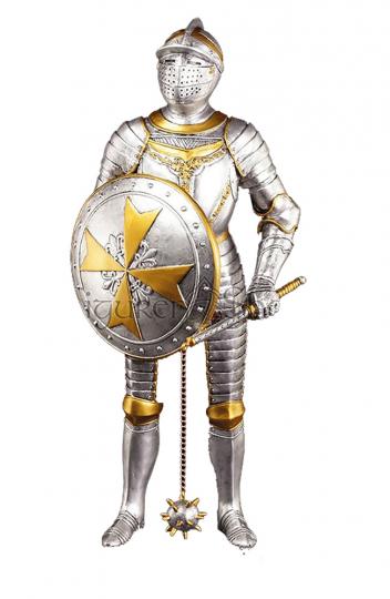 Malteser Ritter mit Morgenstern und Schild