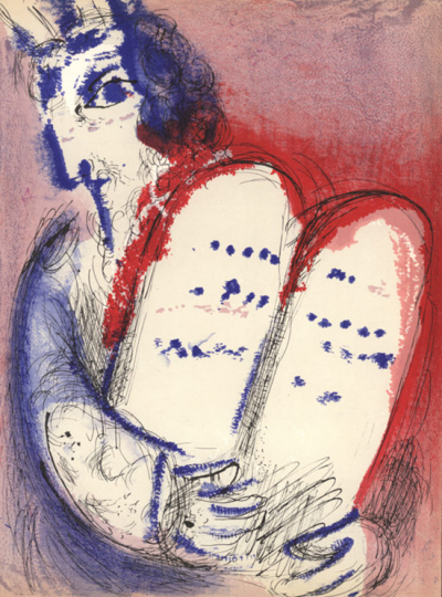 Marc Chagall. Moses (herabschauend).