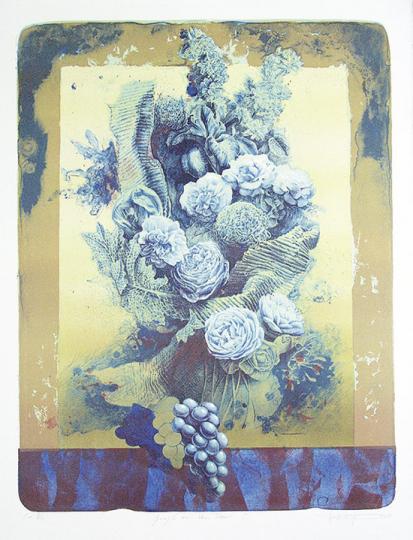 Marc Friesing. Gruß an Van Dael I. Lithografie.