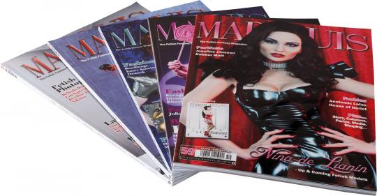 Marquis. The Fetish Fantasy Magazine. Paket 1. 5 Bände.