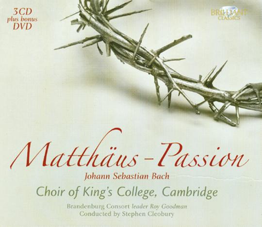 Matthäus-Passion 3 CDs plus Bonus DVD
