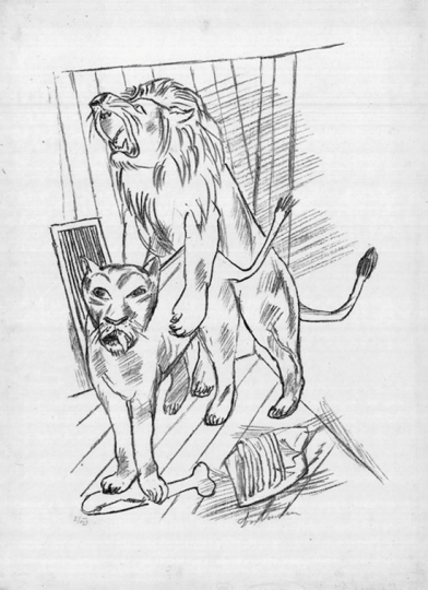 Max Beckmann. Löwenpaar.