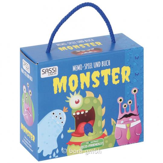 Memo-Spiel Monster mit Buch.