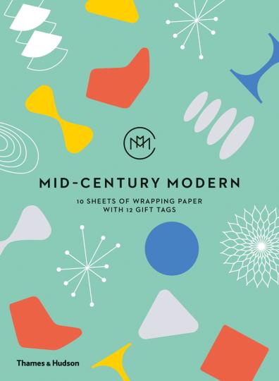 Mid-Century Modern Geschenkpapierbuch.