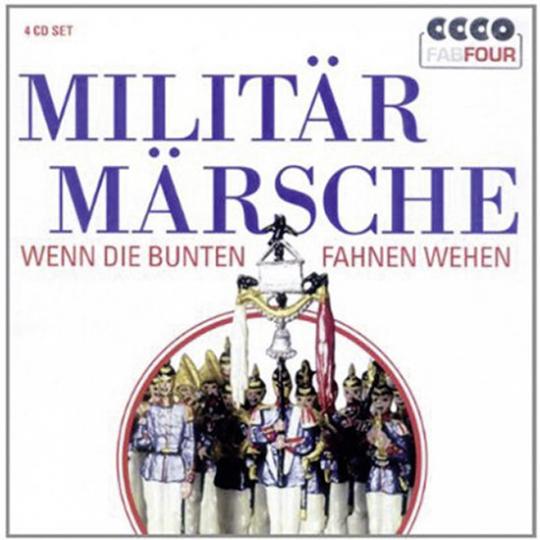 Militär Märsche. Wenn die bunten Fahnen wehen. 4 CD Set.