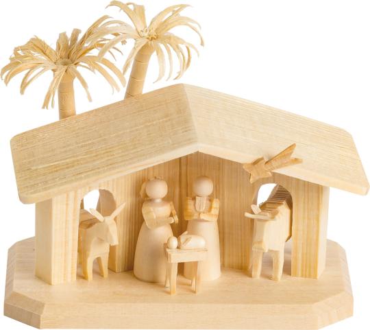 Mini-Holzkrippe.