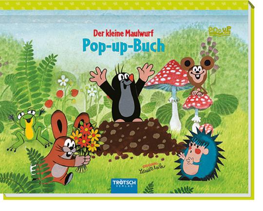 Mini-Pop-Up-Buch »Der kleine Maulwurf«.