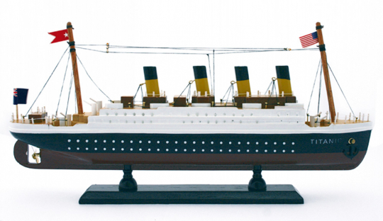Modell der Titanic.