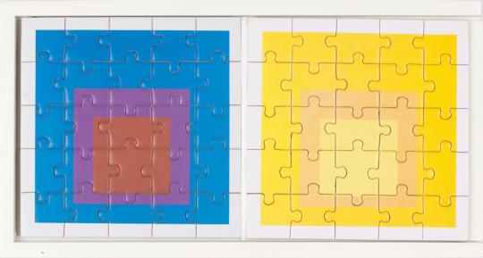 MoMA-Holzpuzzle-Set »Josef Albers«.