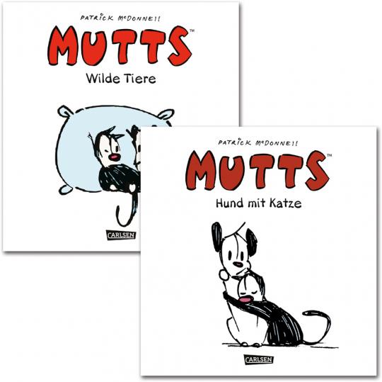 Mutts. Wilde Tiere und Hund mit Katze. Comic. 2 Bände.