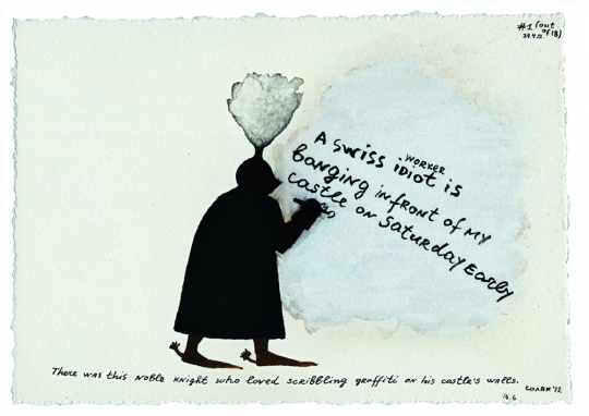 Nedko Solakov. Knight's Graffiti, 2012.
