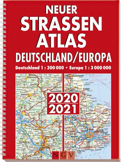 Neuer Straßenatlas Deutschland-Europa 2020/2021.