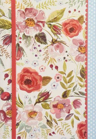 Notizbuch Vintage Blooms. A5 liniert.
