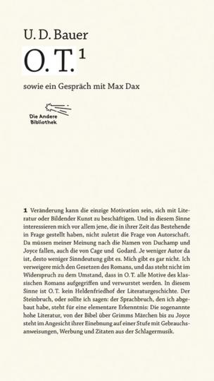 O.T. Sowie ein Gespräch mit Max Dax.
