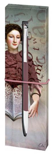 Papier und Feder. Kugelschreiber Storybook.