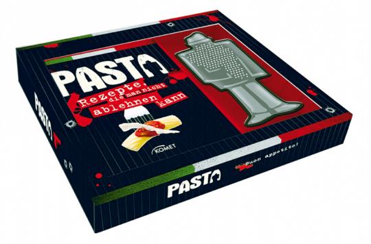 Pasta: Rezepte, die man nicht ablehnen kann - Buch plus Käsereibe in origineller Mafioso-Form in dekorativer Geschenkbox