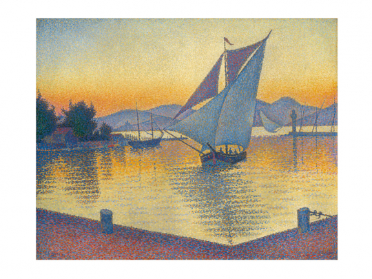 Paul Signac. Der Hafen bei Sonnenuntergang. 1892.