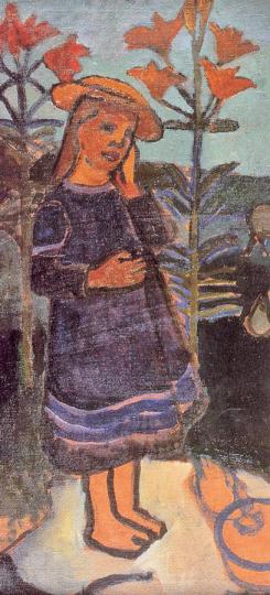 Paula Modersohn-Becker. Elsbeth zwischen Feuerlilien, 1907.