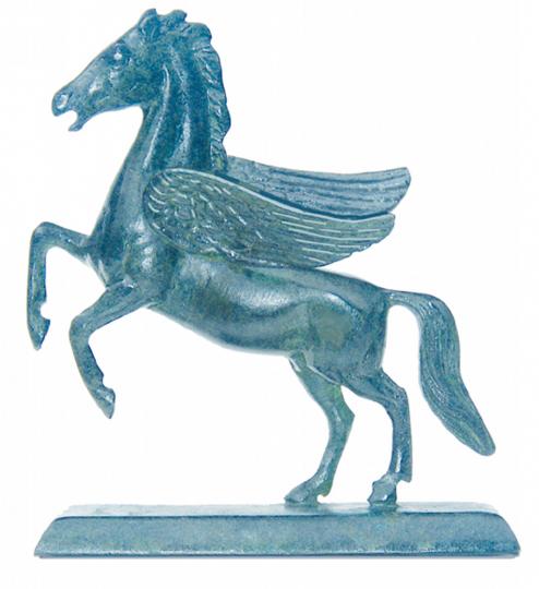 Pegasus Statue - Messing patiniert auf Sockel