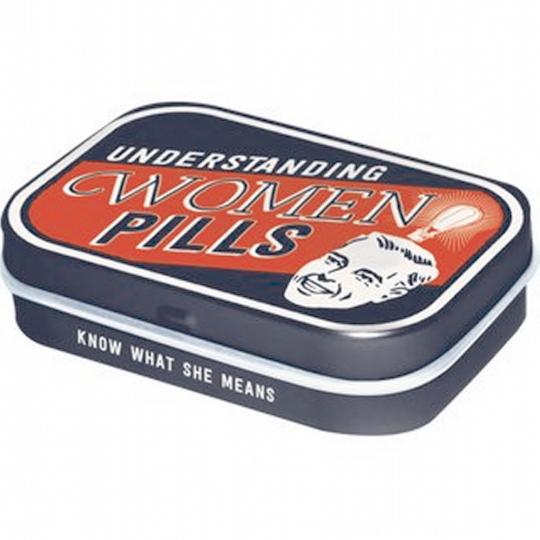 Pillendose im Vintage Stil - Understanding Women Pills