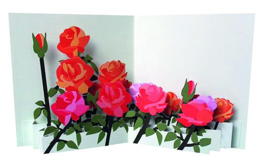 Pop-Up Grußkarte Rosen.