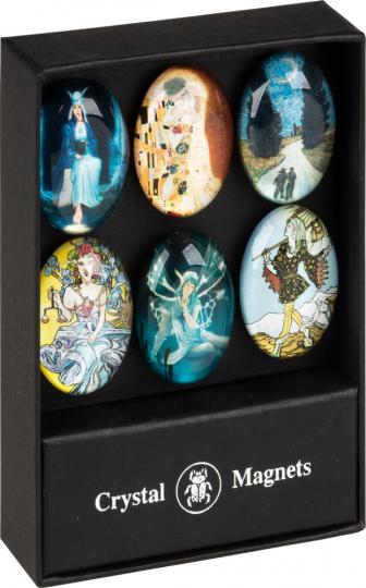Populäre Kunst Magnetset. 6 Magnete.