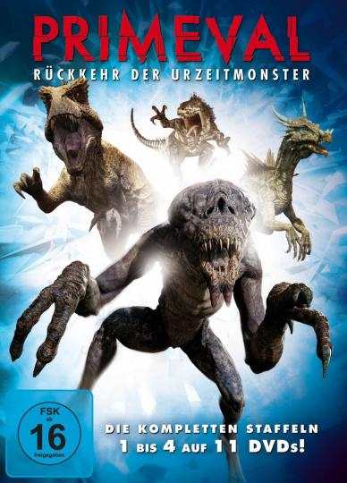Primeval - Rückkehr der Urzeitmonster Staffel 1-4. 11 DVDs.