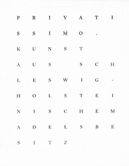 Privatissimo. Kunst aus schleswig-holsteinischem Adelsbesitz.