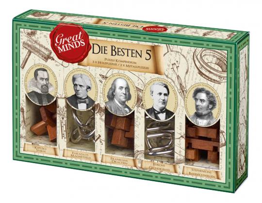 Professor Puzzle: Great Minds. Die besten Fünf. Puzzlespiele.