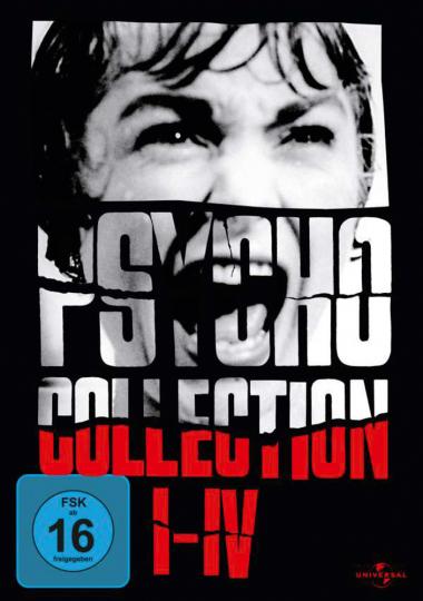 Psycho I-IV. 4 DVDs.