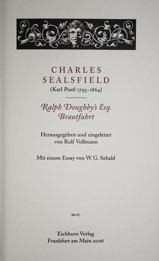 Ralph Doughby's Esq. Brautfahrt.