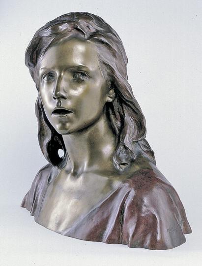 Raoul Larche. Der 12-jährige Jesus im Tempel. Replik Bronze.