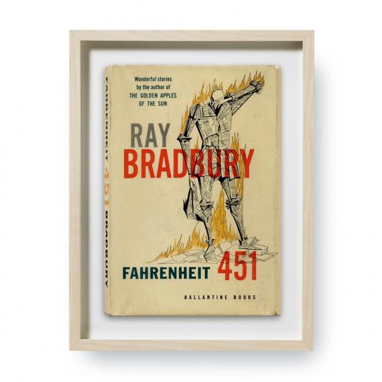 Ray Bradbury. Fahrenheit 451. Erstausgaben Buchcover. Kunstdruck.