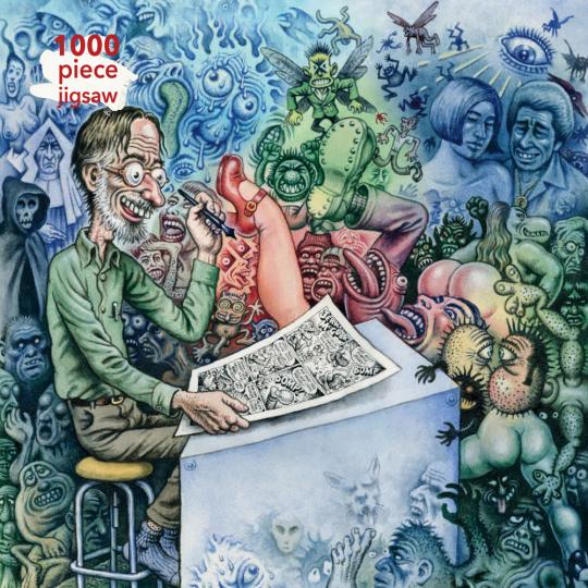 Kunstpuzzle mit 1000 Teilen. R. Crumb's »Who's Afraid of Robert Crumb?«.