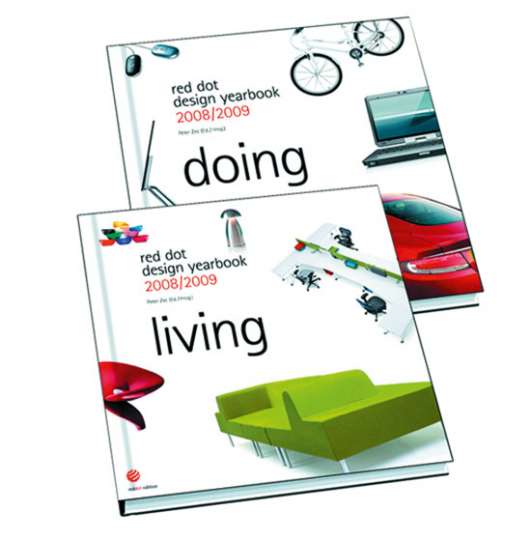 Red dot design yearbook 2008/2009. Living & Doing. 2 Bände.
