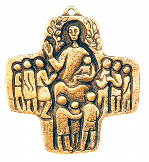 Reliefkreuz, Bronze
