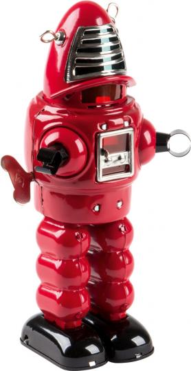 Roboter mit Feuerstein, rot.