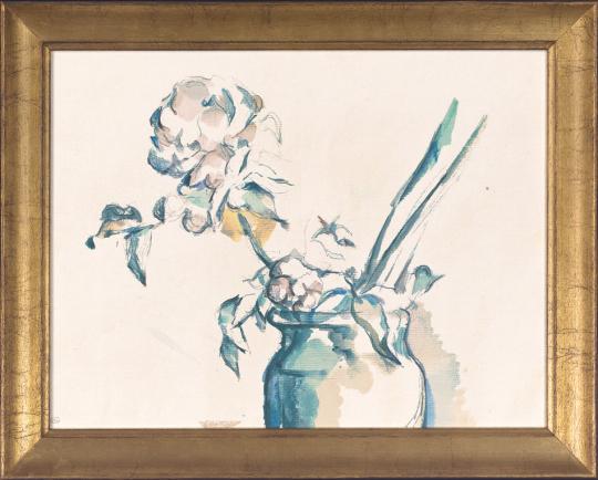Rose in Vase. Paul Cézanne (1839-1906).