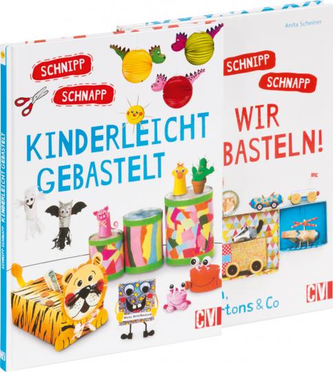 Schnipp Schnapp Basteln Set. 2 Bände.