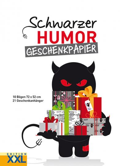 Schwarzer Humor. Geschenkpapier.